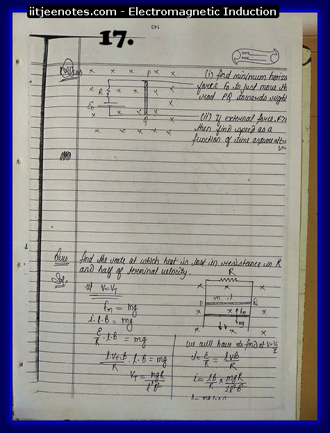 Electromagnetic Induction Notes IITJEE3