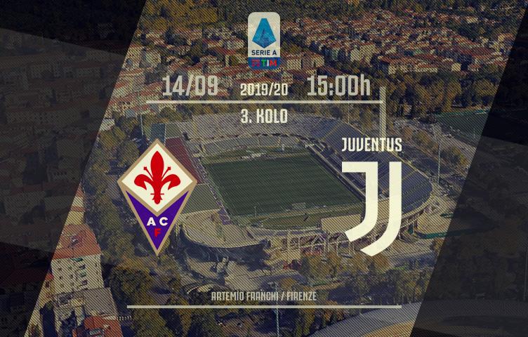 Serie A 2019/20 / 3. kolo / Fiorentina - Juventus, subota, 15:00h