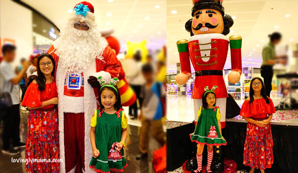 kids - daughters -sisters - Bacolod mommy blogger - Christmas colors - red and green - 100 Days Christmas Countdown - SM City Bacolod - carols - Santa Claus - Santa at the mall
