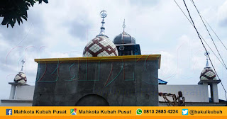 Pemasangan Kubah Masjid Enamel, Singaran Pati - Kota Bengkulu