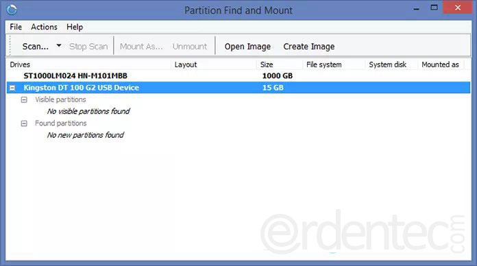 Bring back the lost part with Partition Find and Mount