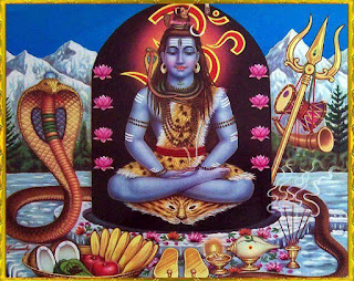 Meditating Lord Shiva