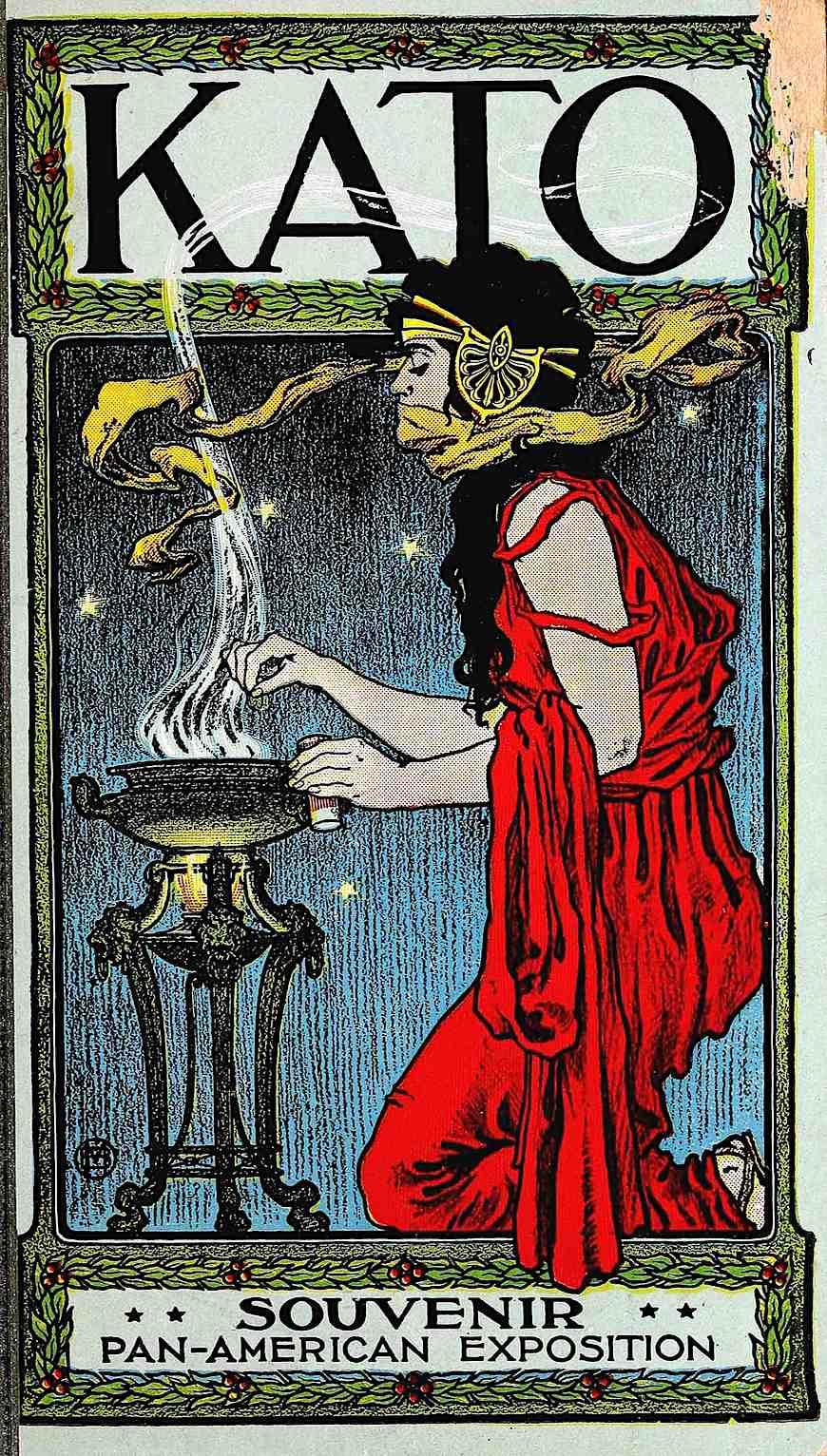 1901 Souvenir Pan-American Exposition, Kato, a color poster