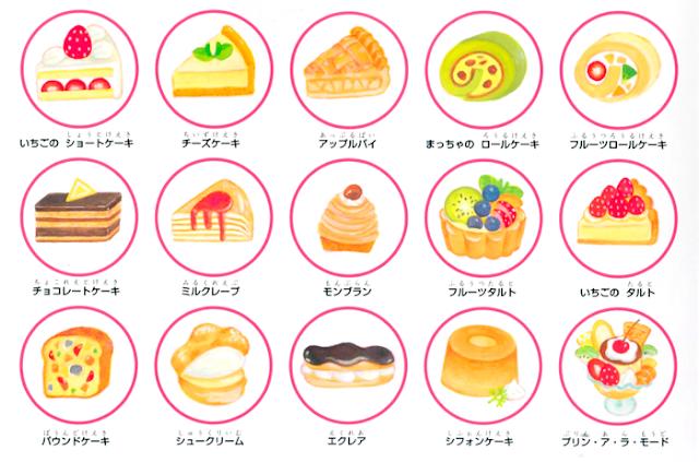 ケーキ 図鑑 イラスト