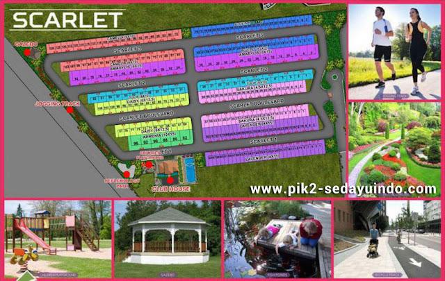 Master plan cluster Scarlet rumah PIK 2