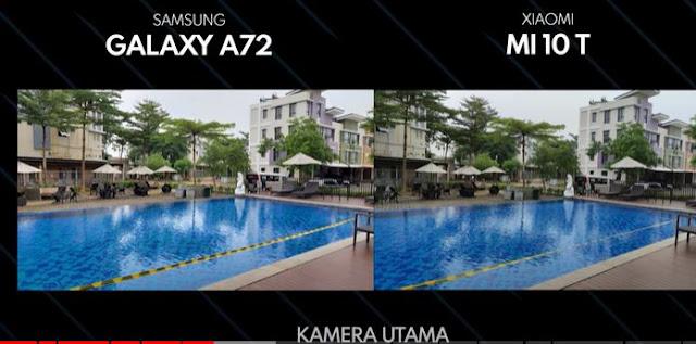 hasil kamera Samsung Galaxy A72 VS Xiaomi Mi 10T