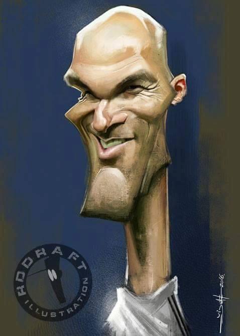 Zinedine Zidane por Rui Duarte