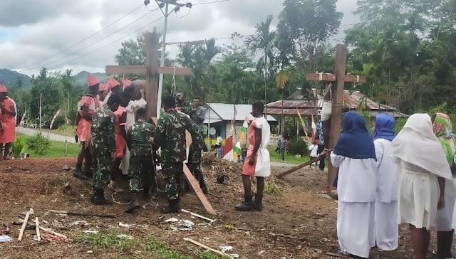 TNI Dukung Rangkaian Kegiatan Hari Paskah di Perbatasan