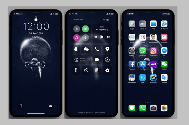 iOS Galaxy Pro MIUI V10 Theme