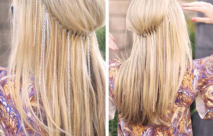 Zincirli Saç Aksesuarı Yapımı