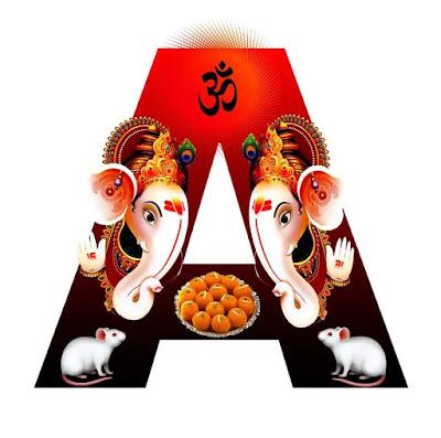 Letter Name Ganesha Image