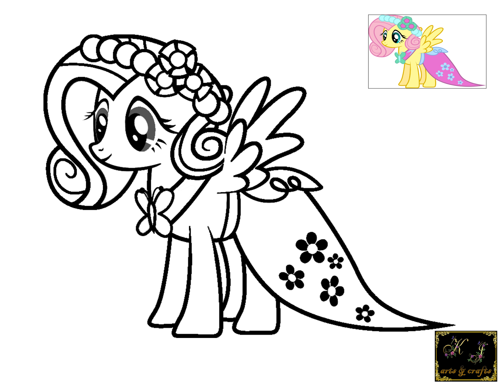 Kj coloring pages fluttershy for Fluttershy coloring pages