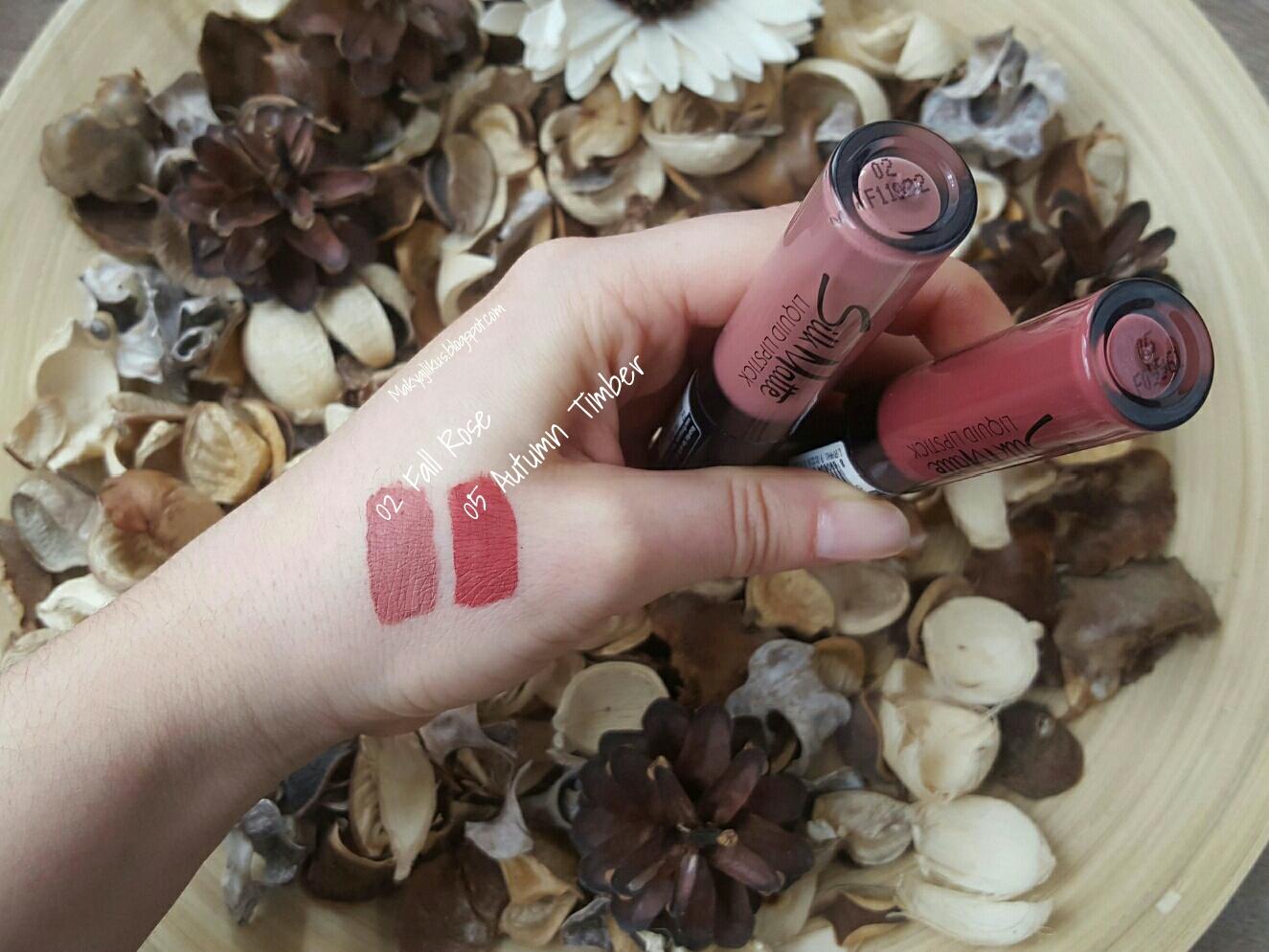 Flormar Silk Matte Liquid Lipstick 02 Fall Rose 05 Autumn Timber