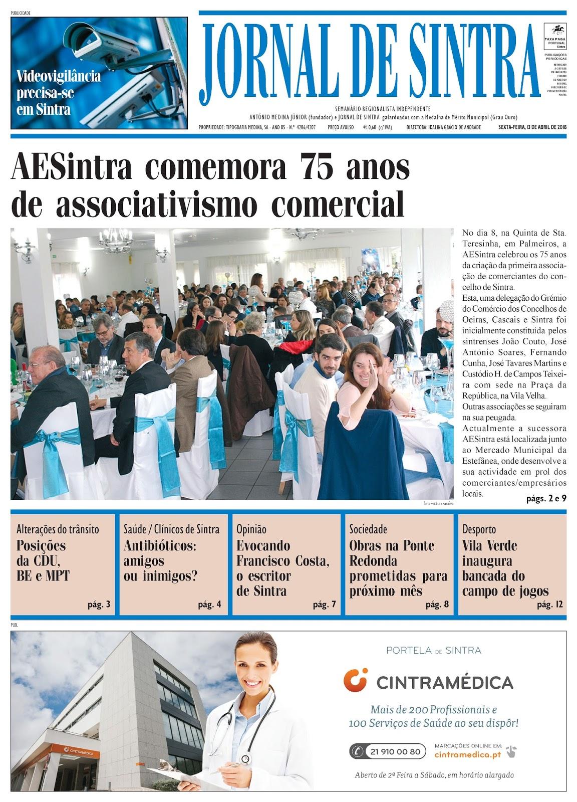 Capa da edição de 13-04-2018