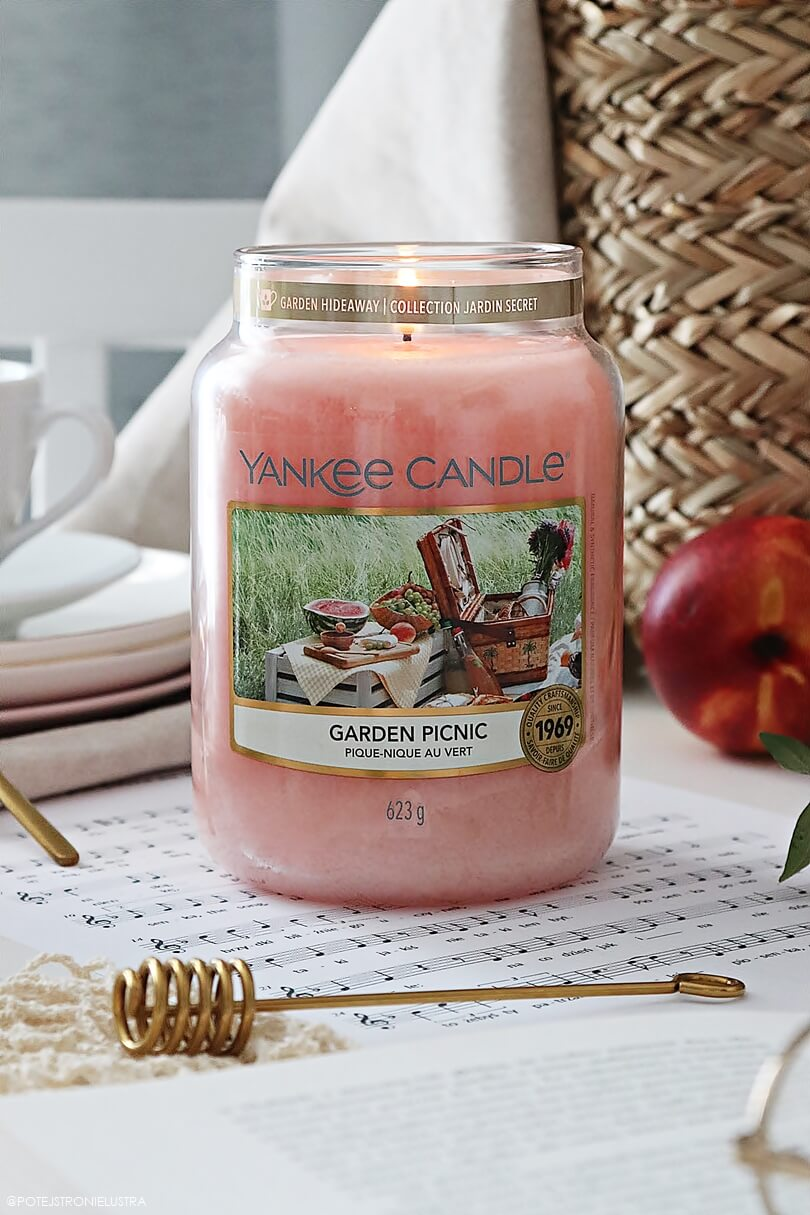 duża świeca yankee candle garden picnic nowość wiosna lato 2020
