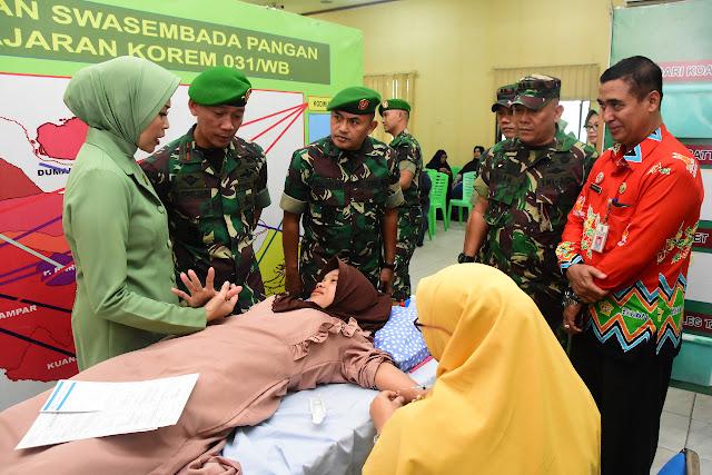 Meriah HUT TNI, Korem 031 Wira Bima Gelar Pengobatan Gratis