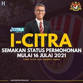 i-Citra Sudah Boleh Buat Semakan Mulai 16 Julai 2021