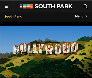 HOLLYWOOD Hills Sign in South ParQ vaccination-special-season-24-ep-2 southpark.cc.com