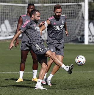 JUST one week to go before league action, Here is 7 pictures from Real Madrid Sunday training