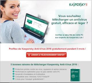 Kaspersky Anti-Virus 2016 - 3 months free