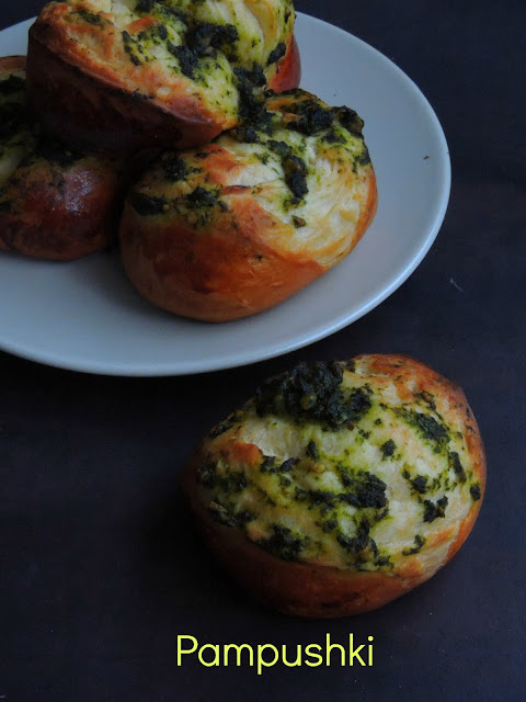 Pampushki, Ukrainian Garlic Rolls