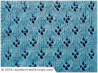 LACE KNITTING #16 | Quatrefoil Eyelet stitch.