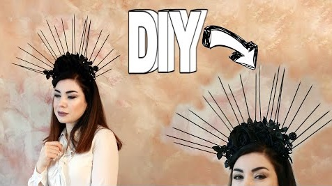 KENDİN YAP-TAÇ YAPIMI-DIY Spiked Halo Flower Crown Headpiece Tutorial-How to Make a Crown?