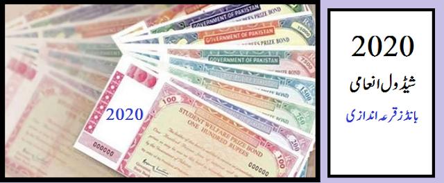 شیڈول  انعامی بانڈز قرعہ اندازی  Prize bond schedule 2020