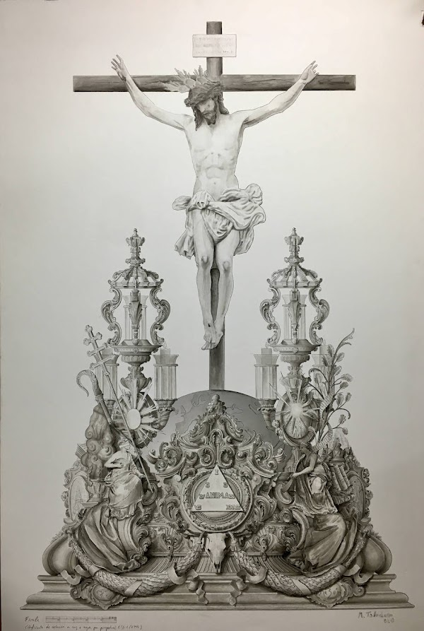 La Hermandad de la Crucifixión de Málaga presenta el diseño del futuro trono de su Cristo