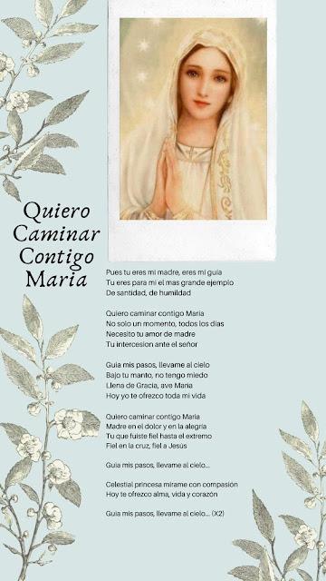 cancion Quiero caminar contigo María