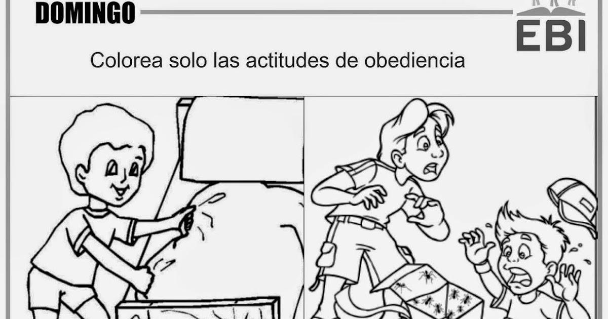 Dibujo De La Palabra Otoño Para Colorear Con Los Niños: Dibujos De La Obediencia