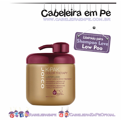 Máscara K-PAK Color Therapy Luster Lock - Joico (Liberada para Low Poo)