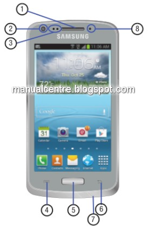 Samsung Galaxy Axiom Front View
