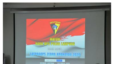 Polda Lampung Gelar Operasi Zebra Krakatau 2020