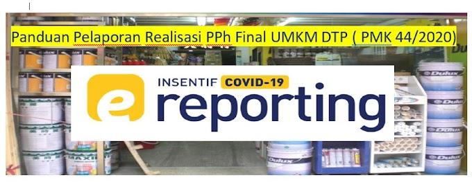Panduan Penyampaian Laporan Realisasi Pemanfaatan Insentif PPh Final UMKM Ditanggung Pemerintah