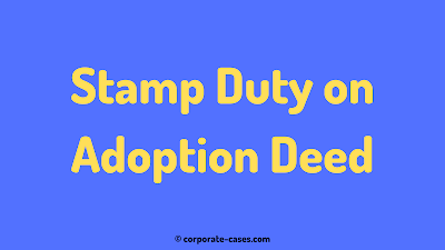 stamp duty on adoption deed