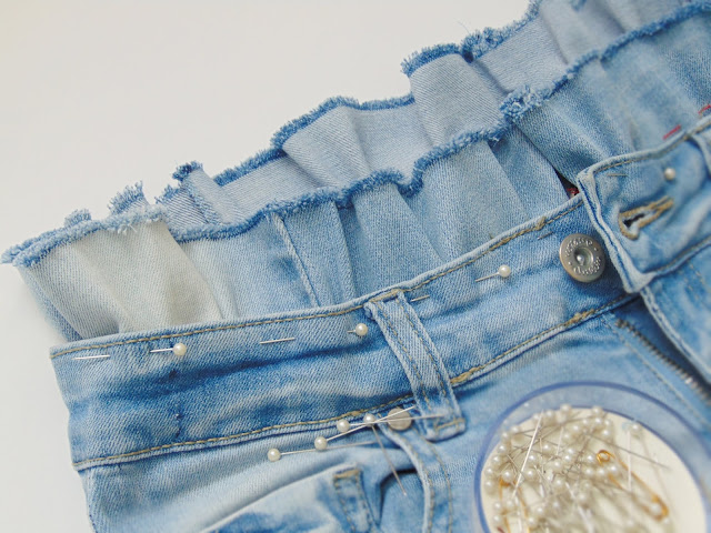 how to make a denim skirt from jeans