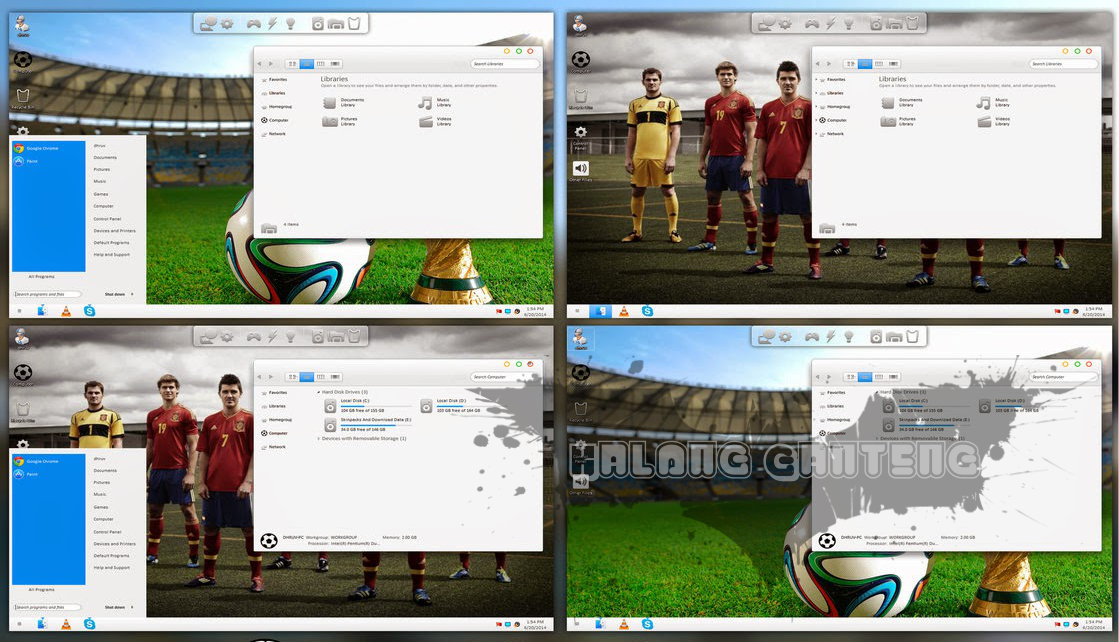 Screenshot Tema/skinpack Windows 7/8/8.1 Keren