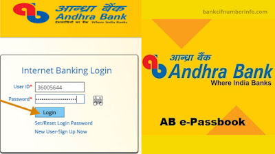 Andhra Bank Statement in Net Banking