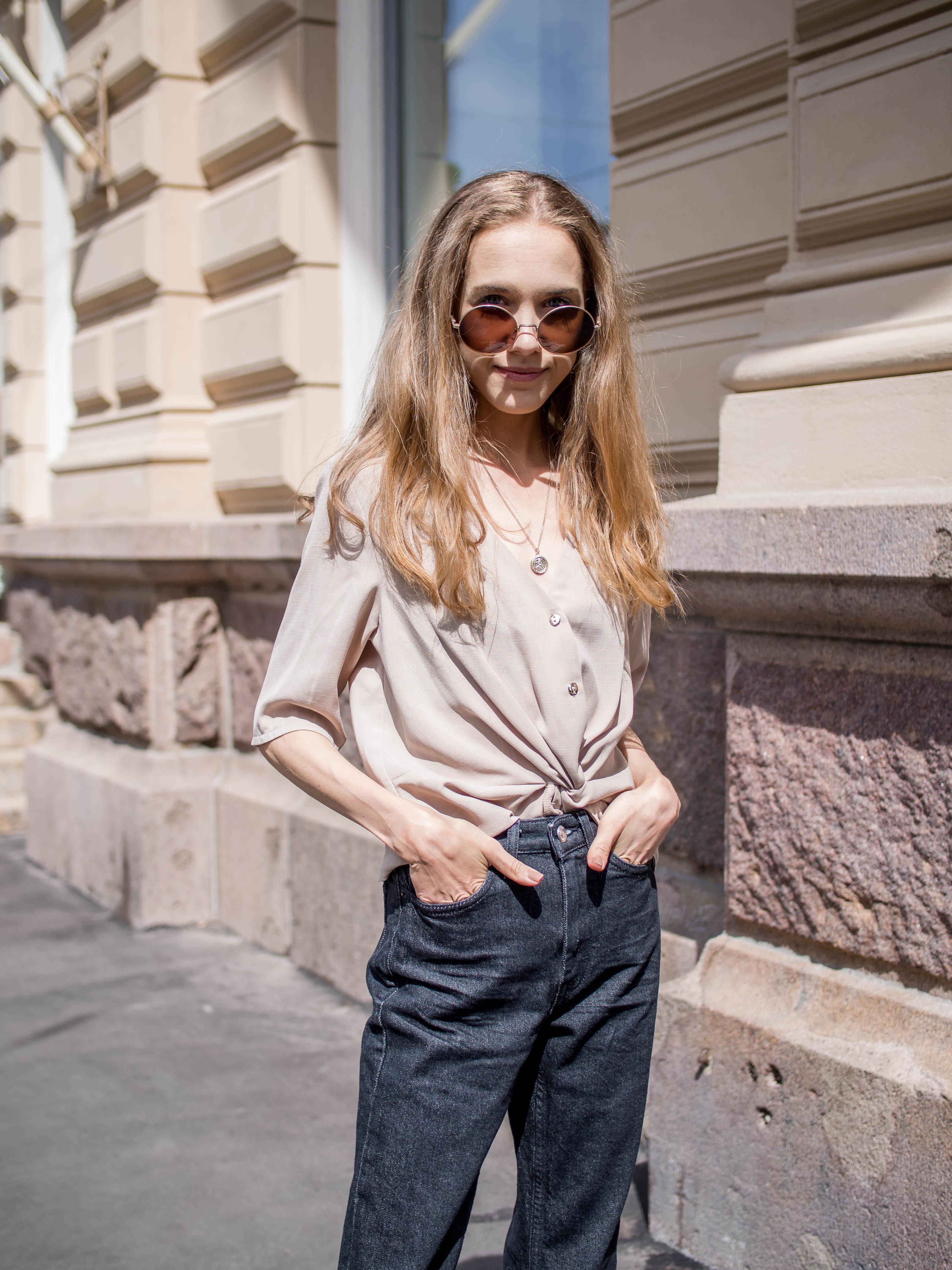 Cropped jeans outfit, street style - Asu cropattujen farkkujen kanssa
