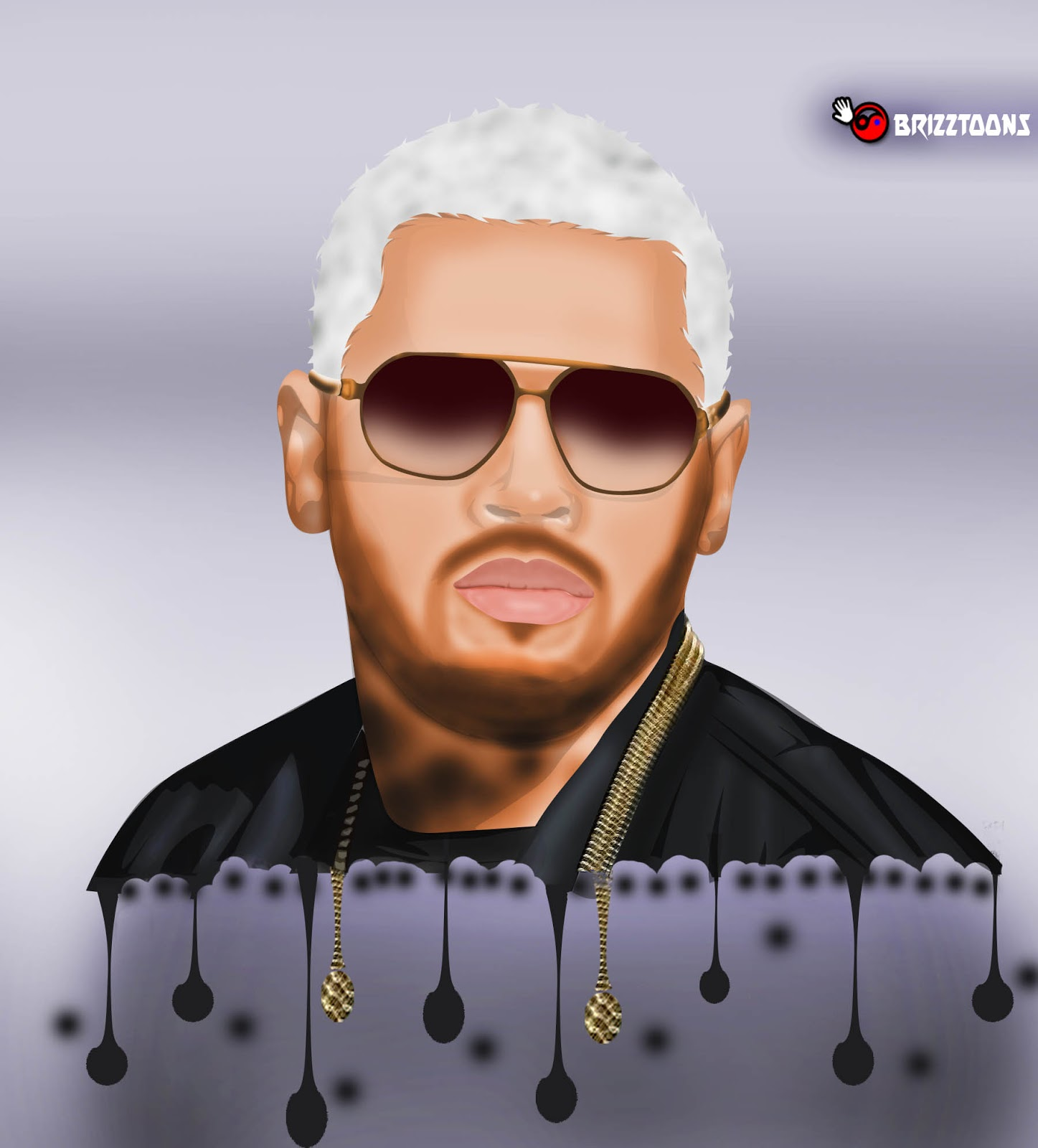chris brown cartoon picture brizztoons