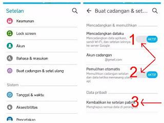 menghapus email google lama di handphone Android
