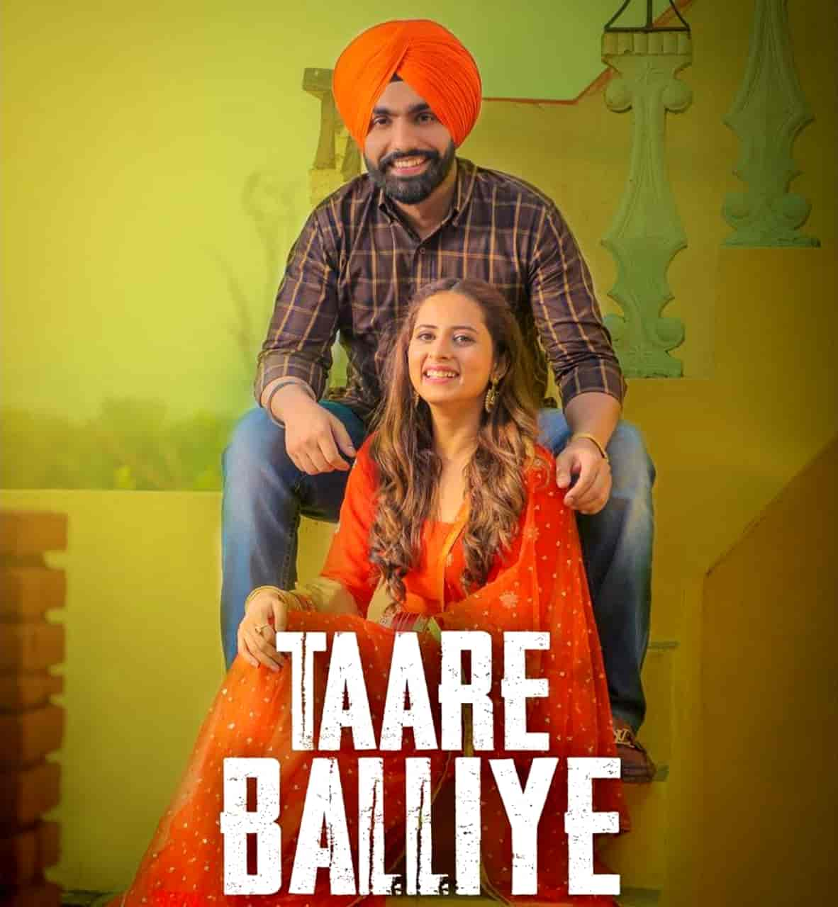 Taare Balliye Punjabi Song Image Features Ammy Virk and Sargun Mehta