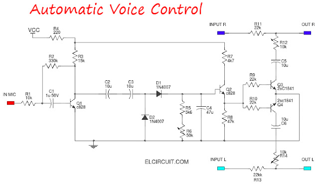 Audio Voice Control Circuit