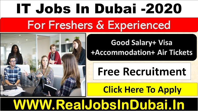 IT Jobs In Dubai with good salary & benefits.