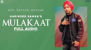 मुलाकात Mulakaat Lyrics in Hindi - Harinder Samra