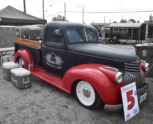 Old fashioned Chevrolet truck at the 2019 Praise The Lard BBQ Contest