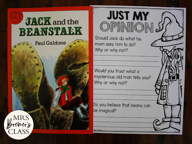 Jack and the Beanstalk Fairy Tales activities unit with Common Core literacy companion activities for First Grade and Second Grade