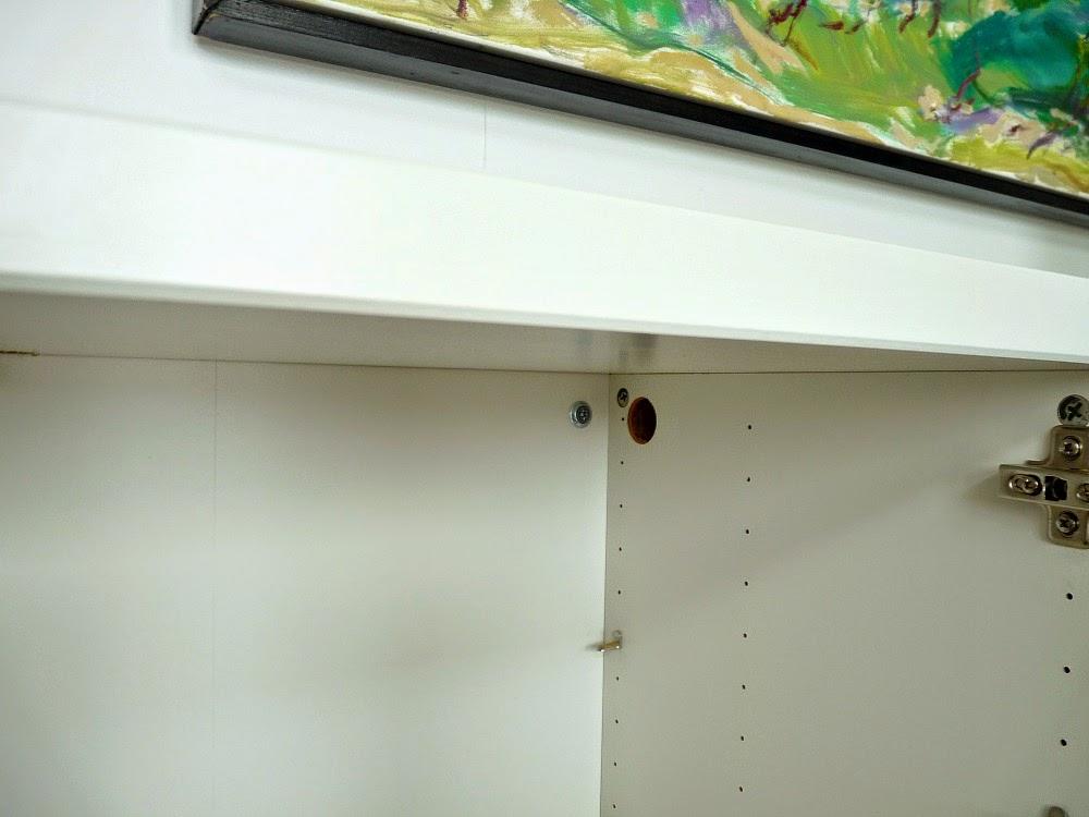 Ikea hack: hide funiture cords inside Besta units