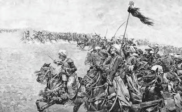 Charge of the Mamluks during the Battle of the Pyramids by Felicien de Myrbach-Rheinfeld